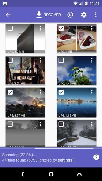 ریکاوری عکس موبایل ریکاوری عکسهای پاک شده